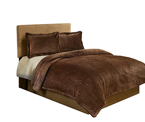 Fraiche Maison Lodge Velvet Plush Sculpted Comforter Set, Twin