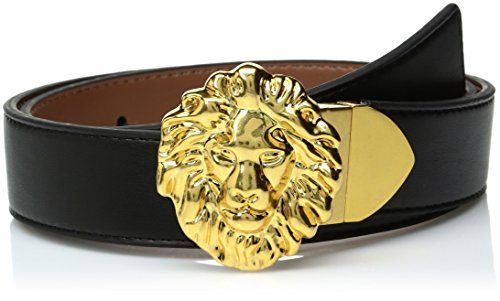Ak Anne Klein Women's Anne Klein 32mm Feather Edge Reversible Belt, black/Antelope, M