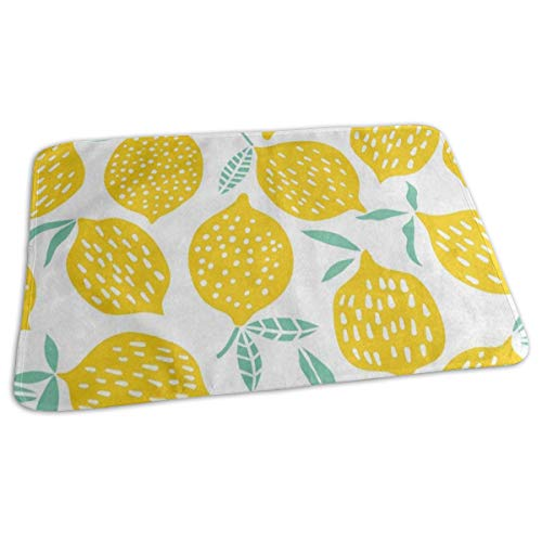 - Changing Pad Yellow Lemon Fruit White Baby Diaper Incontinence Pad Mat Amazing Kids Bed Wetting Pads Sheet for Any Places for Home Travel Bed Play Stroller Crib Car