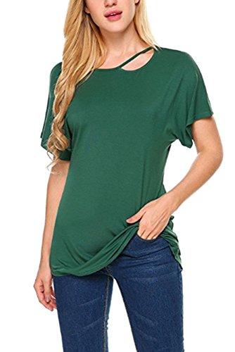 雇用者存在する喜んでXFentech 新しい レディース 夏 授乳服 ロングTシャツ ソリッドカラー 半袖 コットン マタニティ ママ 看護服 妊娠中のトップス