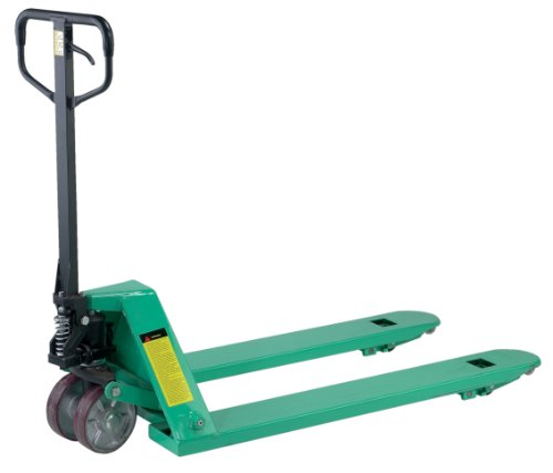 Trans Roller - Wesco Industrial Products 272740 Specialty Trans Roller Pallet Truck with Handle, Moldon Polyurethane Wheels, 5000 lb. Load Capacity, 63