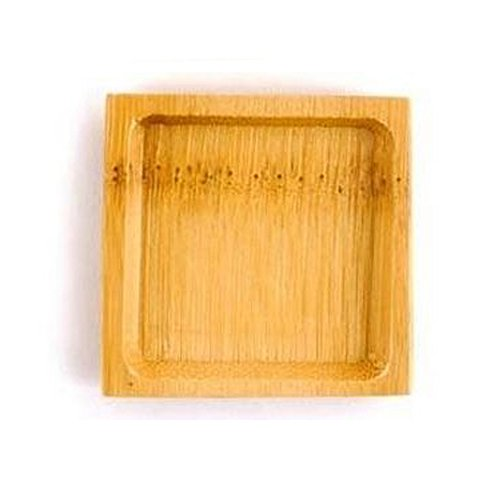 (BambooMN Brand - Solid Bamboo Mini Dishes - Deep Square, 2.4