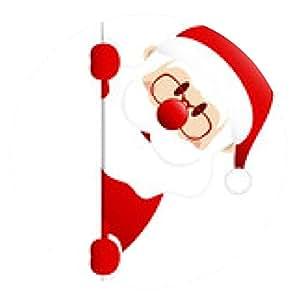 alfombrilla de ratón Rojo oscuro de Santa Banner Diagonal - ronda - 20cm