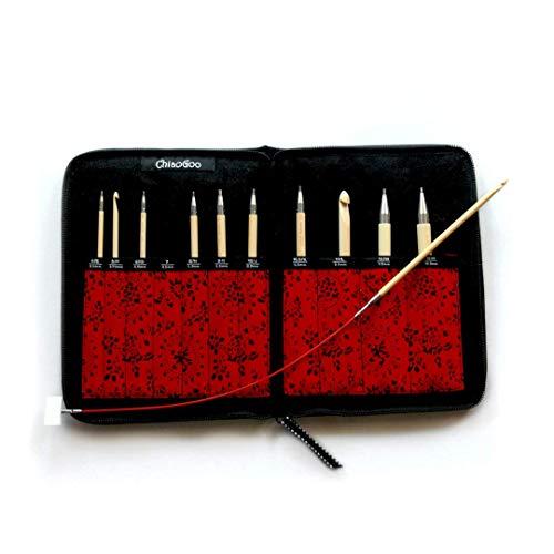 ChiaoGoo T-Spin Bamboo 5.7 inch (14.5 cm) Tunisian Crochet Hook Set by ChiaoGoo (Image #1)