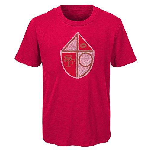 - Outerstuff NFL Youth Boys Vintage Logo Short Sleeve Tee-Crimson-S(8), San Francisco 49ers
