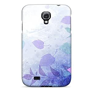 Tpu Phone Case Shockproof Scratcheproof Painted Leaves Hard Case Cover For Galaxy S4