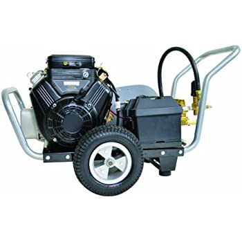 SIMPSON Cleaning Water Shotgun Industrial Gas Powered Pressure Washer 4000 PSI 5 GPM 18 HP VTwin Vanguard Engine with Electric Start WS4050V