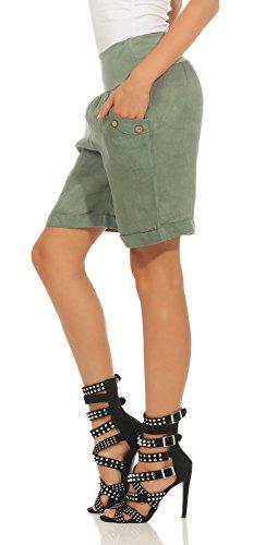 Drei Oliv Donna EU hergestellt Mississhop pfe Pantaloni Mit in Kn wq7X4I0