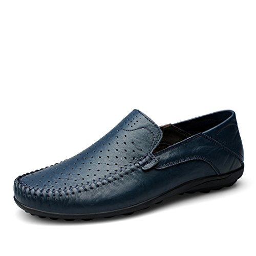 Minitoo Boys Mens Mesh Breathable Fashion Daily Loafers Dark Blue