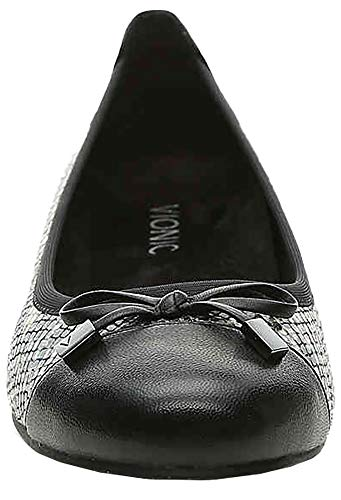 359 Minna Womens Gris Leather Vionic Shoes Grey Snake qgw57yO