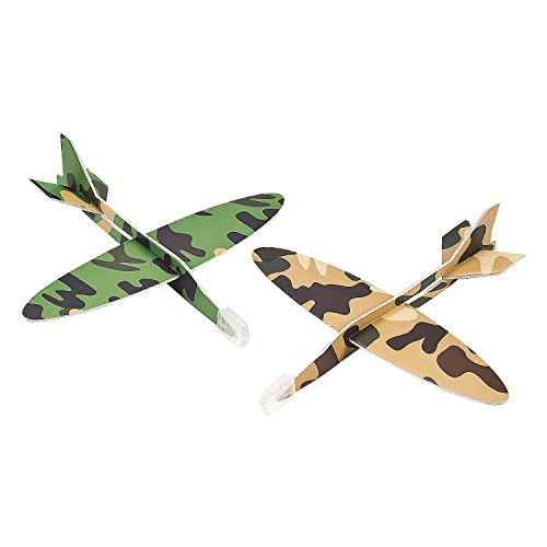 24 Army Camouflage Airplane Gliders - Party Favors