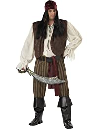 Rogue Pirate Plus Size Costume,Brown