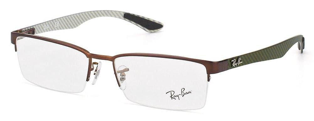 dd72aaeecd Amazon.com  Ray Ban RX8412 Carbon Fibre Eyeglasses-2758 Dark Matte Brown- 54mm  Shoes