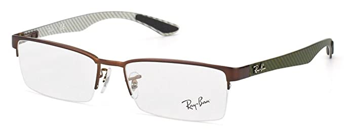 66b5d919cc RAY BAN Eyeglasses RX 8412 2758 Matte Brown 54MM  Amazon.co.uk  Clothing