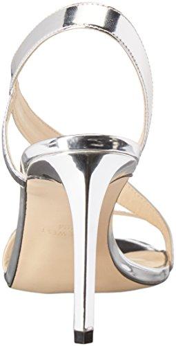 Slingback Nine Zeh West US Rhyan Groesse Leger EU Offener 10 Sandalen Frauen 42 Silber 5 rwYqHr