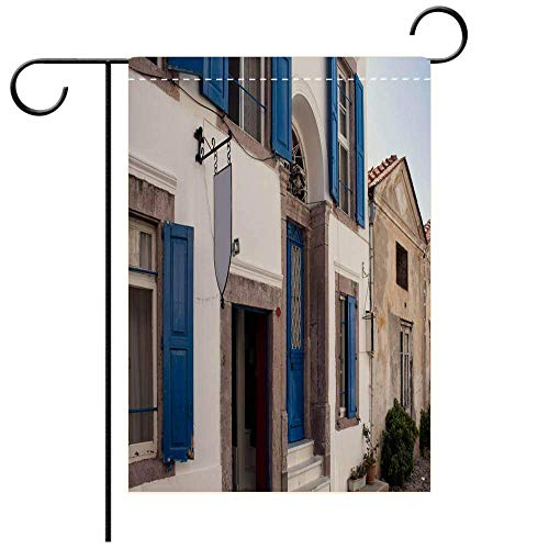 a6afdf06f423c Wlioohhgs Garden Flag Double Sided Decorative Flags Close up View of Old  Historical Stone Houses in Cunda (Alibey) Decorative Deck, Patio, Porch, ...
