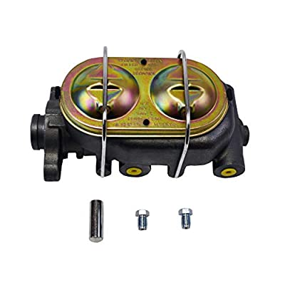 """A-Team Performance 4 Port Master Cylinder Corvette Style Cast Iron Compatible with GM Chevy Chevrolet Disc/Drum Disc/Disc 3/8"""" Ports: Automotive"""