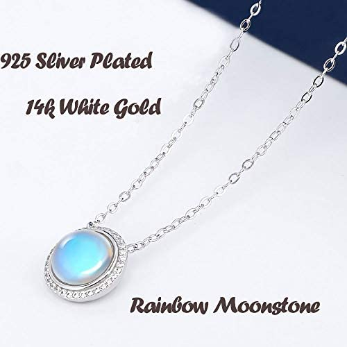 Rupa Gems Slice Polki Diamond Pendant Antique Silver PendantReal Rainbow Moonstone Gemstone Pendant Real Rainbow Moonstone Gemstone Pendant