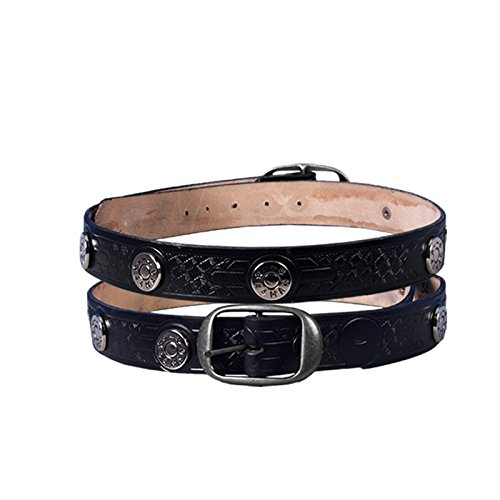Embossed Studded Belt - Hot Leathers 11044 Black Size 44 Leather 44 Mag Studded Belt