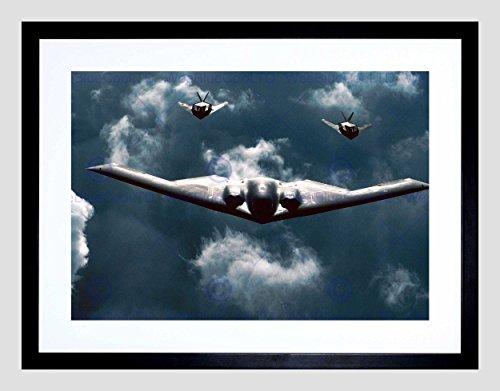 - MILITARY AIR PLANE B-2 SPIRIT BOMBER F-117 NIGHTHAWK STEALTH ART PRINT B12X7738