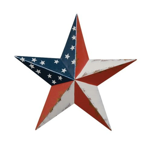 CWI Gifts Americana Barn Star Wall Decor, 8-Inch - Americana Decor