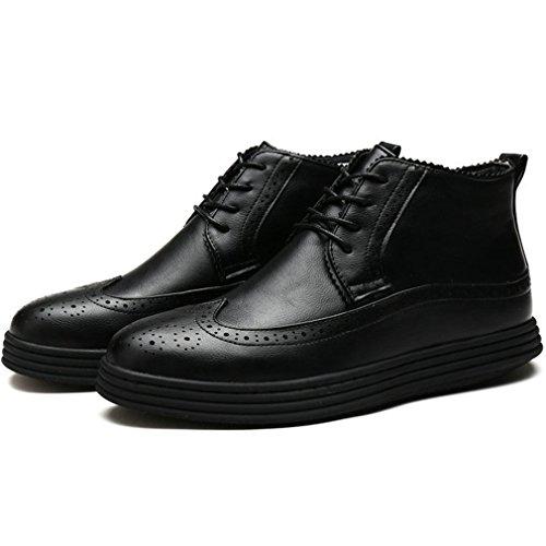 Xianshu accento caviglia stivali Lace up scarpe piatte Singolo Nero