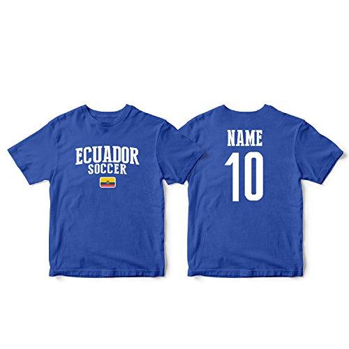 - nobrand Ecuador Men's Flag National Pride Man Soccer Team T-Shirt Soccer Jersey (Men Blue S)