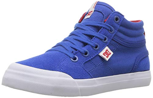 DC Boys' Evan HI Skate Shoe Royal/True RED 3 M M US Little Kid