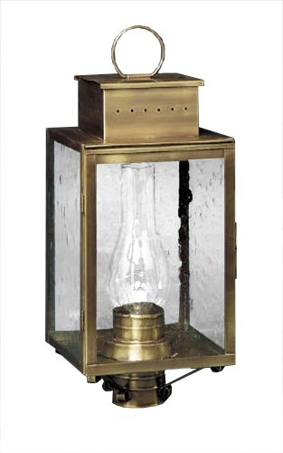Brass Traditions 460 SAC Large Tall Post Lantern 400 Series, Antique Copper Finish 400 Series Tall Post Lantern - Sac Antique