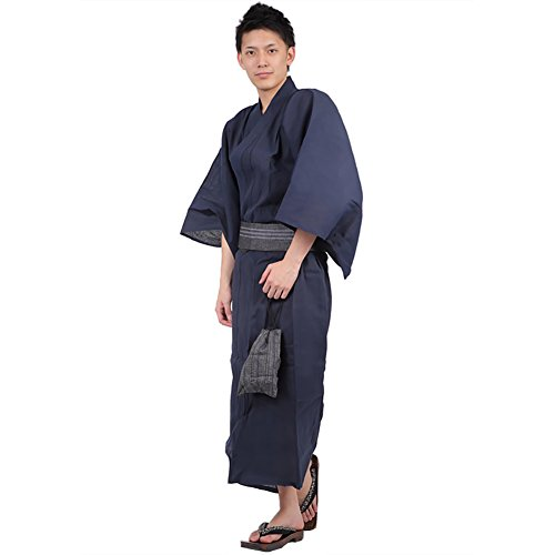Used, K sera sera Yukata Geta Mens Japanese Japan Navy01 for sale  Delivered anywhere in USA
