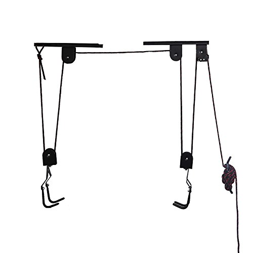 Arltb Bike Lift Hoist Garage Bicycle Ceiling Hoist Ceiling-Mounted Bike Lift Pulley Hanging System...