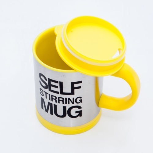 Self Stirring Coffee Mug (Black/Silver) - 7