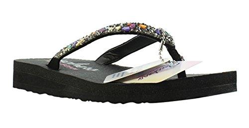 67dbefd18bd47f Galleon - Skechers Cali Women s Meditation-Break Water Flip Flop ...
