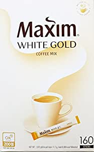 Amazon.com : Maxim South Korean Instant Coffee 160 sticks (White Gold) : Grocery & Gourmet Food