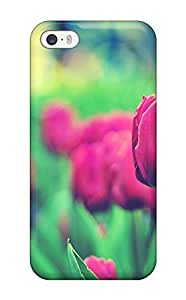 New Snap-on CaseyKBrown Skin Case Cover Compatible With Iphone 5/5s- Tulips Garden