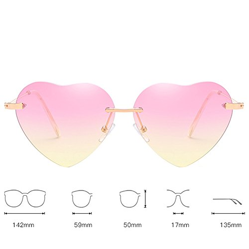 5 ligero 2 Xinvision UV Gafas Peso forma Retro Gafas 5cm de Spectacles Metal Al sol Bastidor aire Lente corazón Viajes Elegante En de 13 Polarizado 14 Gradiente Amarillo Anti libre Shopping Morado UV400 pqr6SxCwp