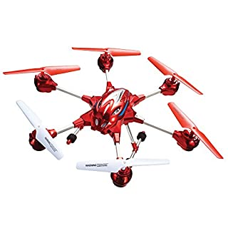 SkyRover Hexa 6.0 Drone with Video Camera and Wireless Remote - Red