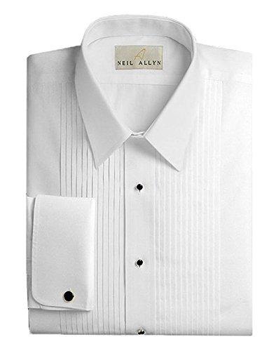 Neil Allyn Mens Tuxedo Shirt - 100% Cotton Laydown Collar - 17 - 34/35
