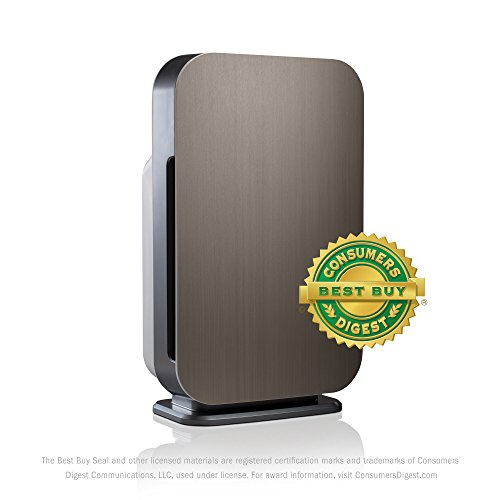 Alen Flex Allergen-Reducing Air Purifier with HEPA Filter for Pet and Diaper Odors, 700 SqFt; Brushed Stainless