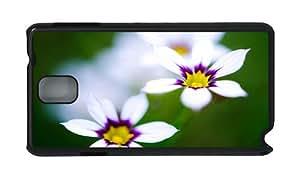Stylish Samsung N9000 good cases Macro white flowers PC Black for Samsung Note 3/Samsung N9000