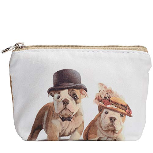 Women and Girls Cute Fashion Coin Purse Wallet Bag Change Pouch Key Holder (Cute Dog)