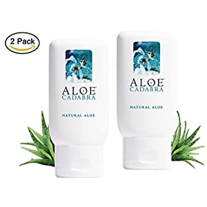 Aloe Cadabra Natural Personal Lubricant, Organic Vaginal Dryness Moisturizer - Best Sex Lube with Aloe Vera Gel, Unscented, 2.5 Ounce (Pack of 2)