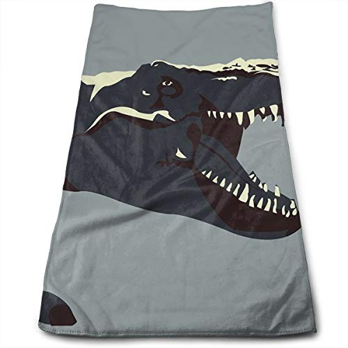 - Jurassic World T Rex Dinosaur Roar Claws Teeth Compressed Quick-Dry Velour Fingertip Towels Washcloth - Carry-on, Durable, Lightweight, Commercial Grade, Ultra Absorbent - 12x27.5 Inches
