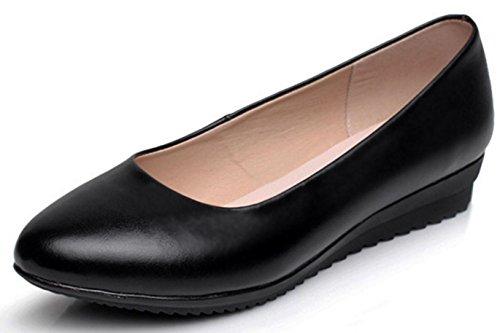 rondes travail travail noir talons cuir à Chaussures en Chaussures cuir de pour femmes femmes professionnelles HYLM de Chaussures pour en EBnpxxqF8w