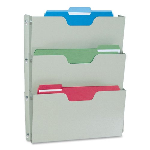 Buddy Products Triple Wall Pocket, 14.5 x 2.5 x 17.5, Platinum (5210-32) (Letter Buddy Products)