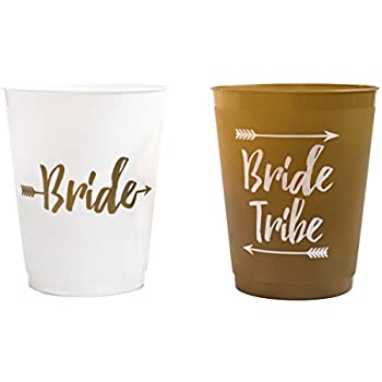 14 bride and bride tribe bachelorette party cups bridal shower cups for bachelorette party