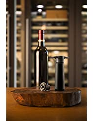 The Original Vacu Vin Wine Saver with 2 Vacuum Stoppers – Black