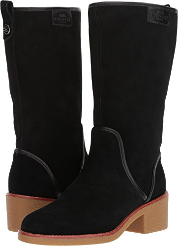 Coach Womens Palmer Closed Toe Mid-Calf Fashion Boots, Black Suede, Size 7.0