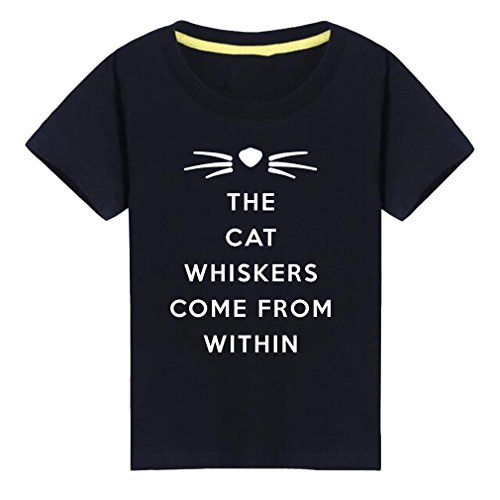 Conquershop Little Boys Girls The Cat Whiskers Come From Within T-Shirt (B,L) - Cat Whiskers Halloween