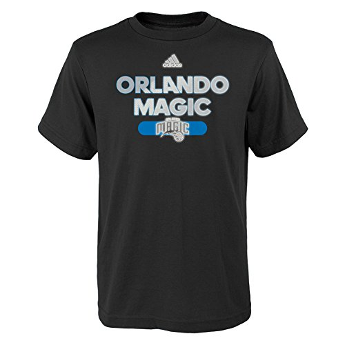 NBA Reflective Authentic Short Sleeve Tee-Black-M(10-12), Orlando Magic
